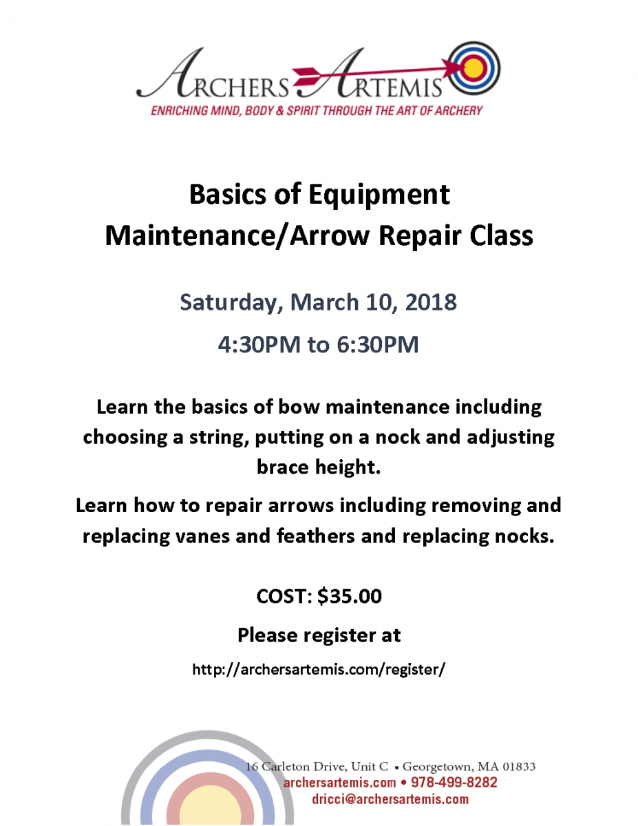 Maintanance and REpair class 3-18 1