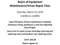 Maintanance and REpair class 3-18 1